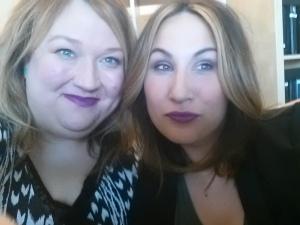 Both wearing MAC's lipstick Heroine