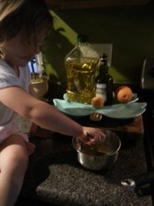 We love breakfast!  Paleo pancakes and berries!