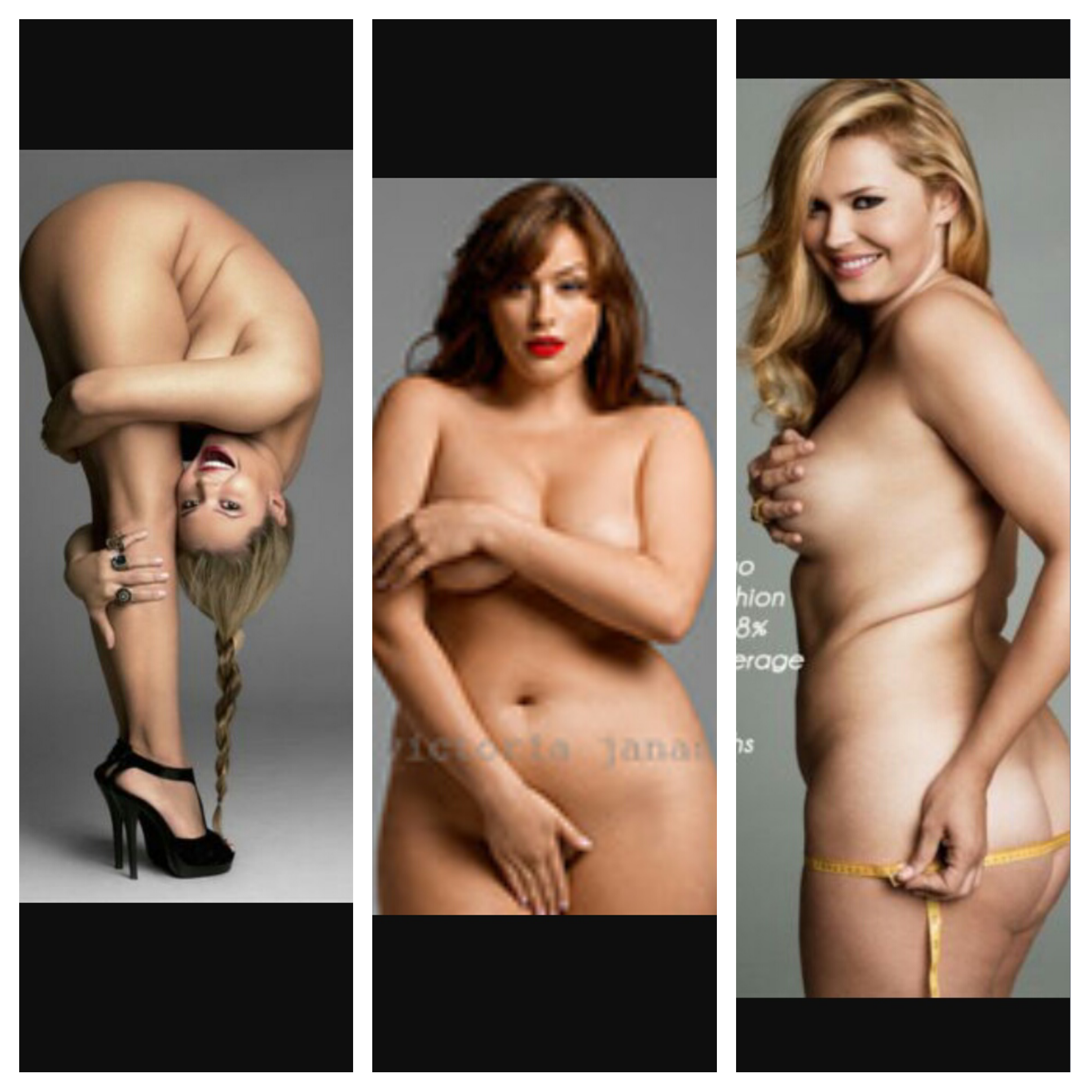 naked curvy woman